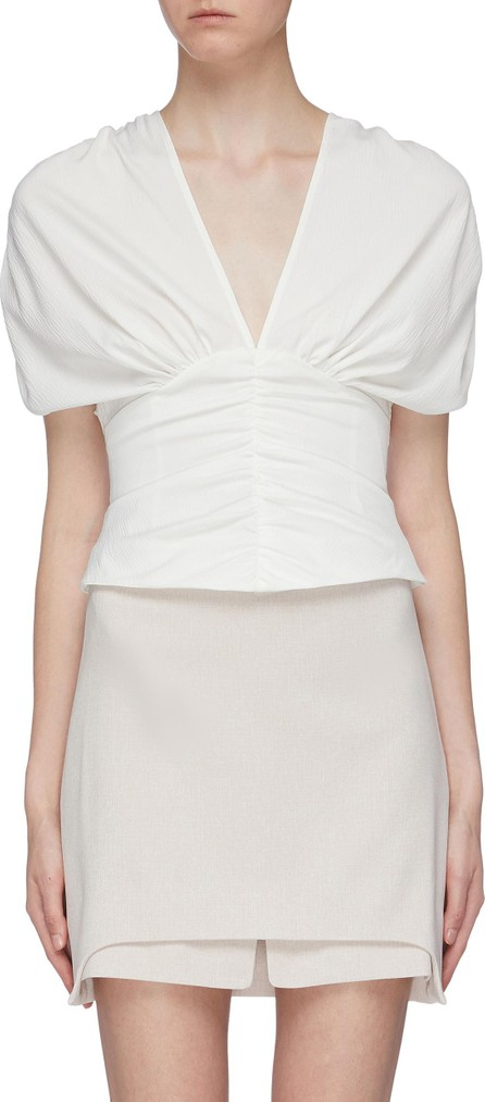 C/MEO Collective 'Expired' ruched V-neck top