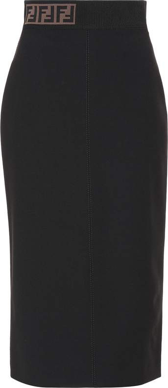 Fendi Wool-blend pencil skirt