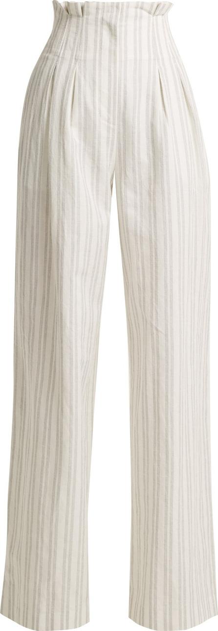 Rebecca Taylor Striped high-rise wide-leg trousers