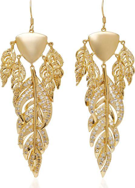 Fallon Raven Gold-Tone Chandelier Earrings