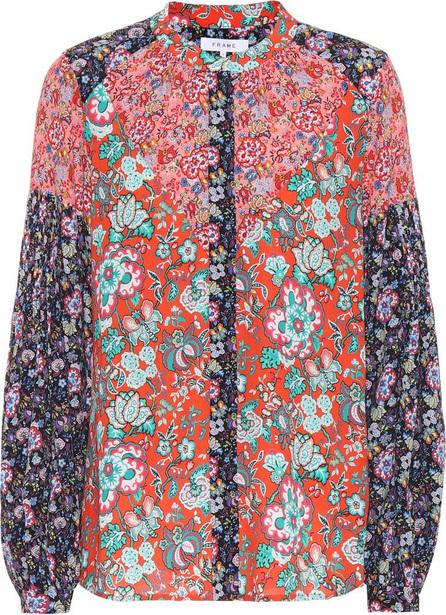 FRAME DENIM Floral-printed blouse