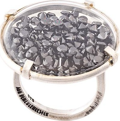 Ann Demeulemeester black diamond ring