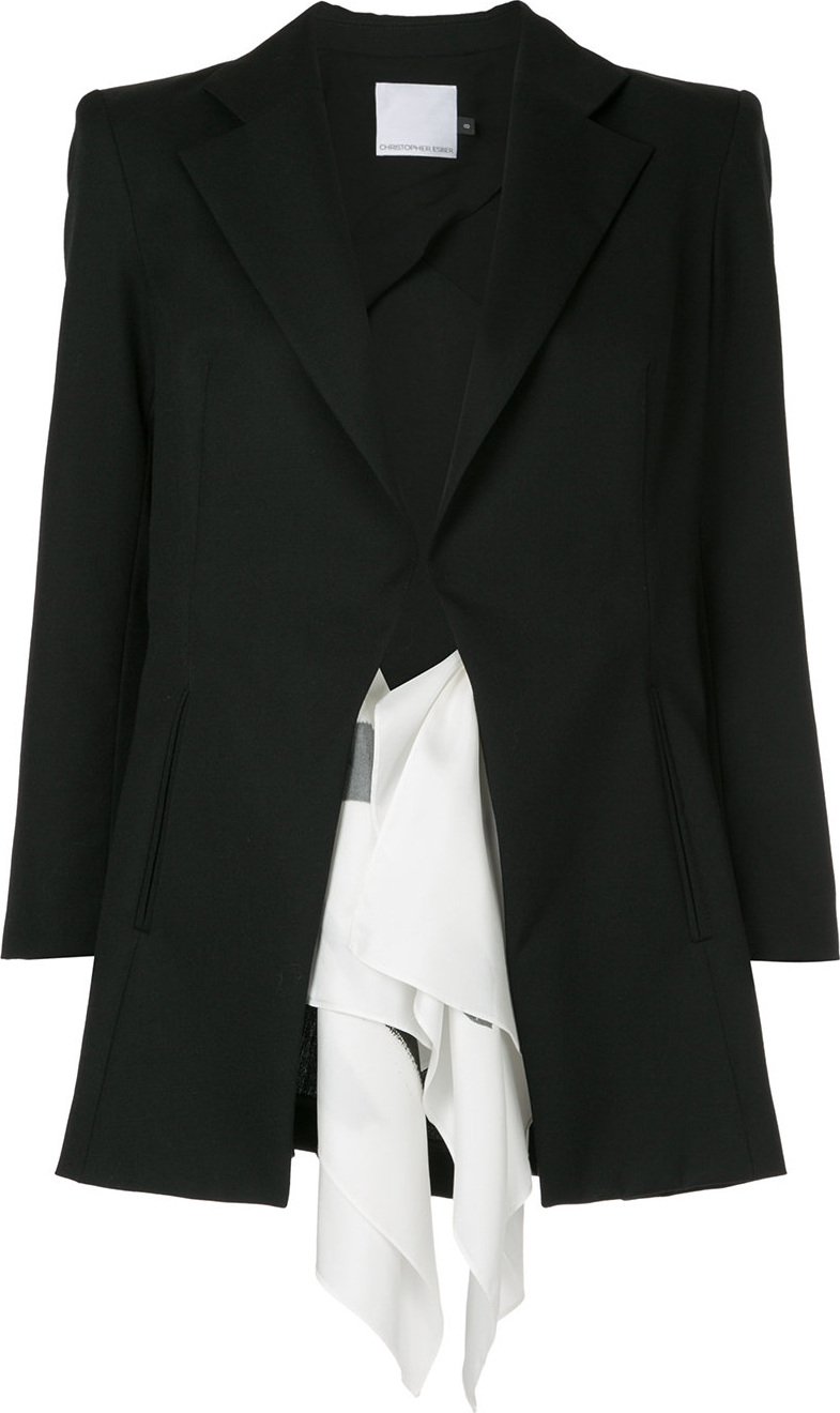 Christopher Esber - Draped detail long-length blazer