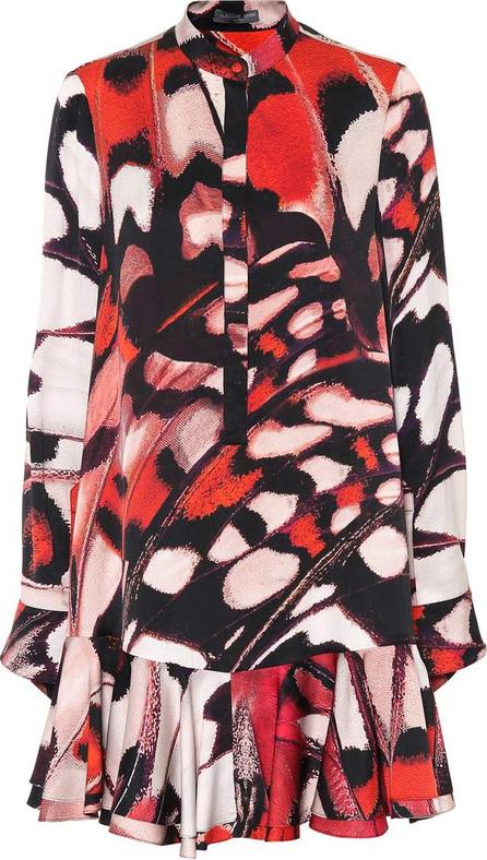 Alexander McQueen Butterfly-printed silk satin dress