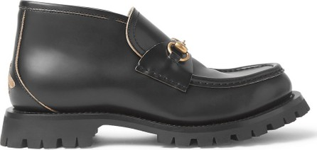 Gucci Django Horsebit Leather Loafers
