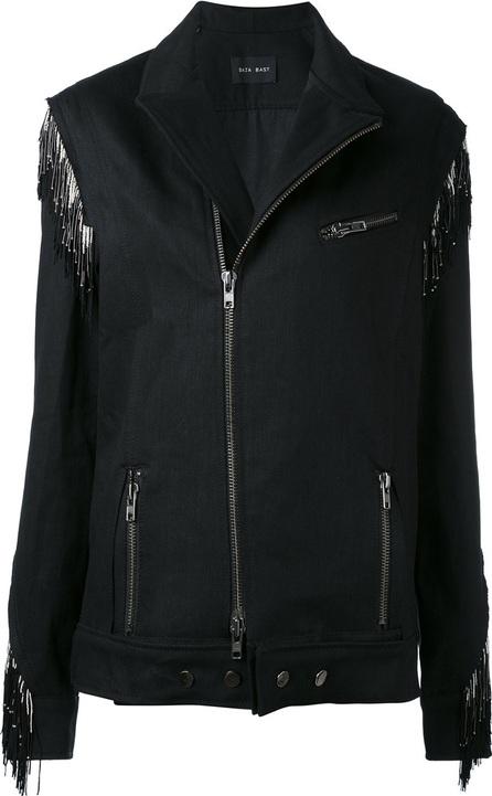 Baja East embellished biker jacket