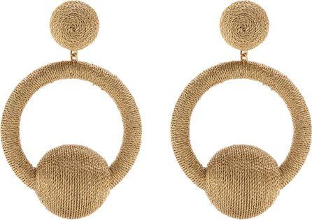 Rebecca de Ravenel India hoop-drop clip-on earrings