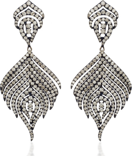 SUTRA 18K Black Rhodium and Diamond Earrings