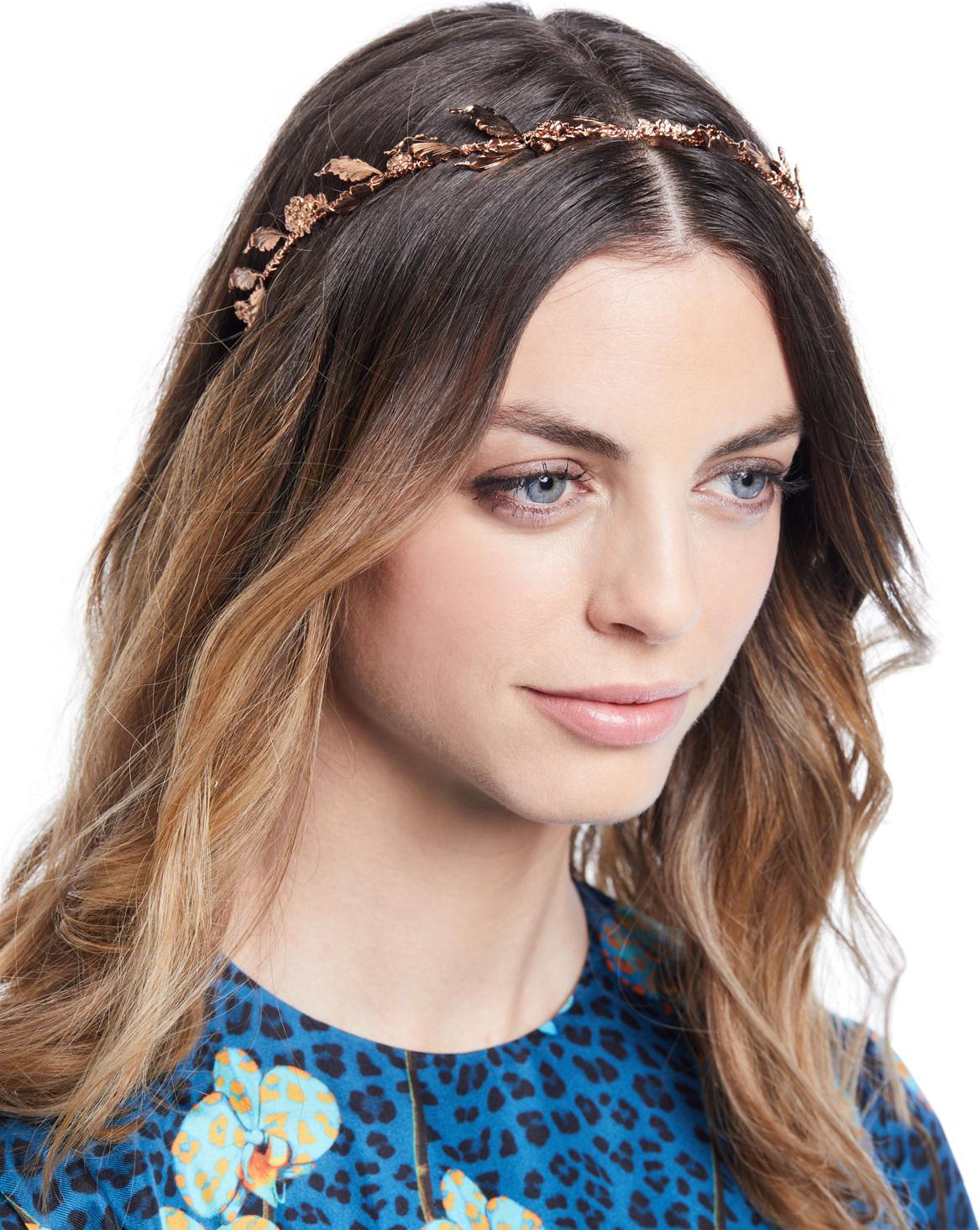 3cc0787639cc2 Jennifer Behr Delicate Laurel Leaf Headband in Red - mkt