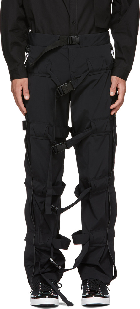 99% Is Black Strap Trousers