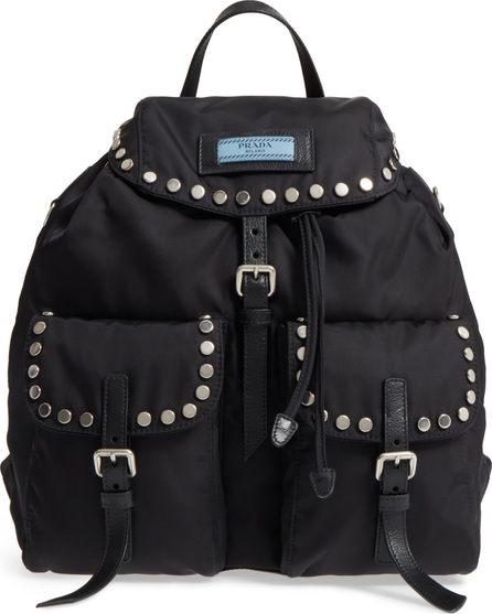 Prada Tessuto Etiquette Nylon Backpack