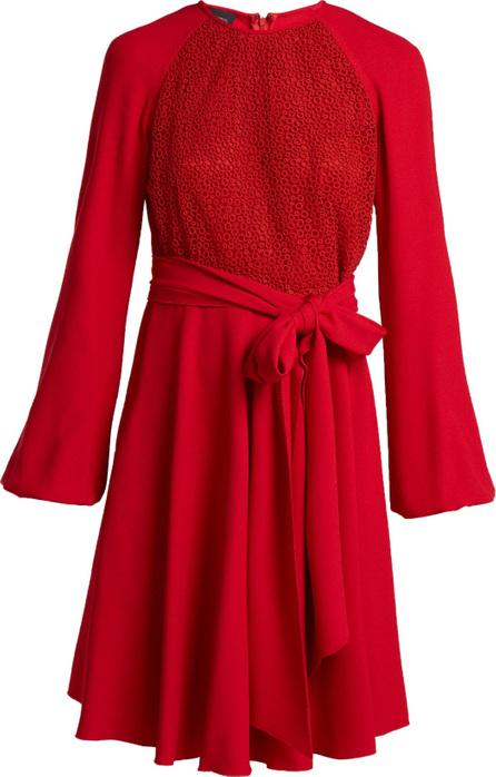 Giambattista Valli Macramé-lace crepe dress