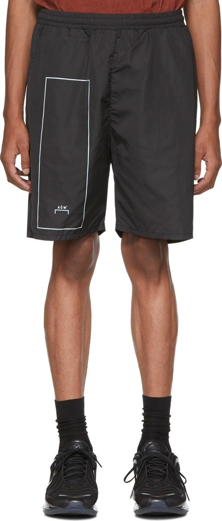 A-Cold-Wall* Black Nylon Rectangle Shorts