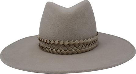 Gigi Burris Jeanne Felt Panama Hat w/ Racello Braid Band