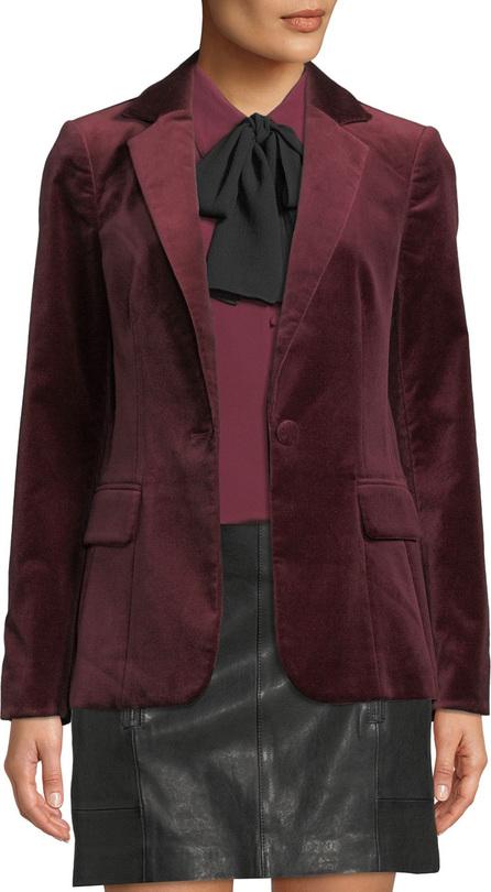 FRAME DENIM Classic One-Button Velvet Blazer