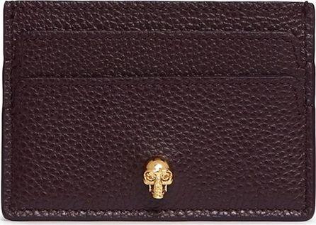 Alexander McQueen Skull leather card holder