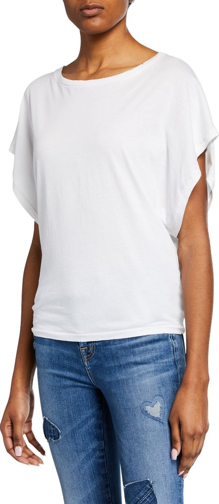 7 For All Mankind Short-Sleeve Tie-Back Tee
