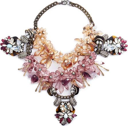 Anabela Chan 'Galatea' floral embellished cluster bib necklace