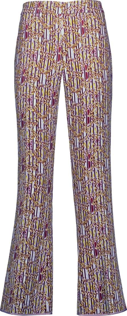 Giambattista Valli Printed crepe bootcut pants