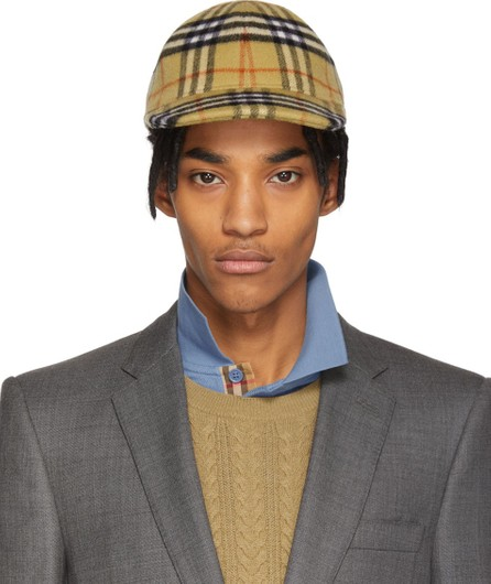 Burberry London England Multicolor Vintage Check Wool Cap
