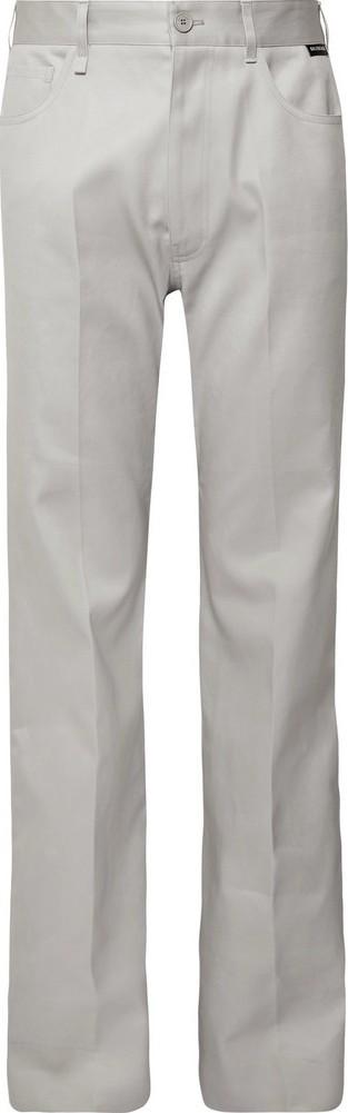 Balenciaga Light-Grey Wide-Leg Cotton-Twill Trousers