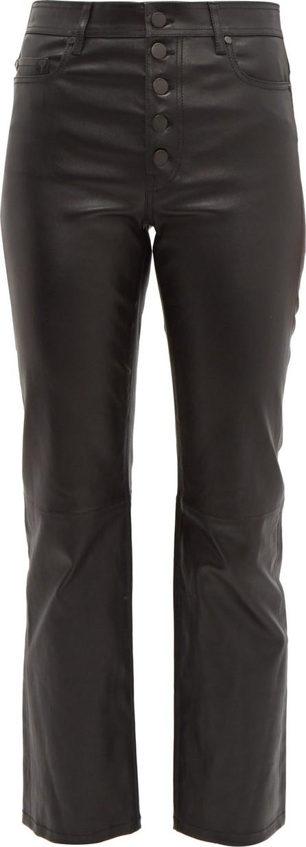 Joseph Den leather kick-flare trousers