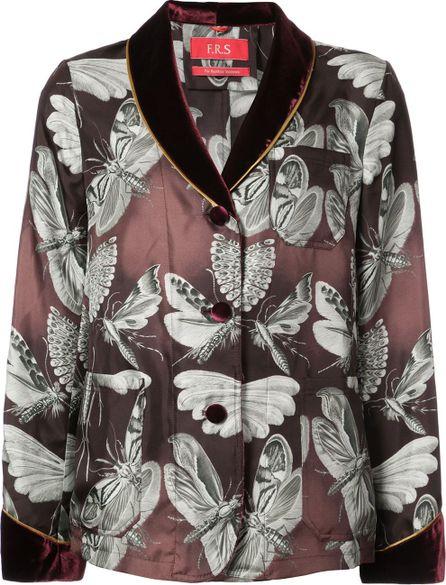 F.R.S For Restless Sleepers Velvet trim blazer