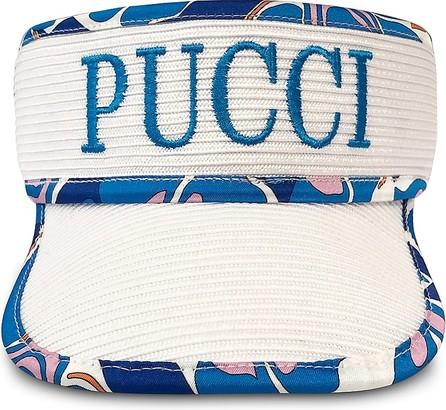 Emilio Pucci Signature White Women's Tennis Visor