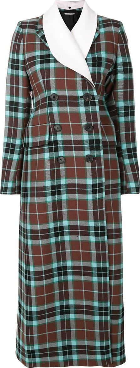 Alessandra Rich tartan double breasted coat