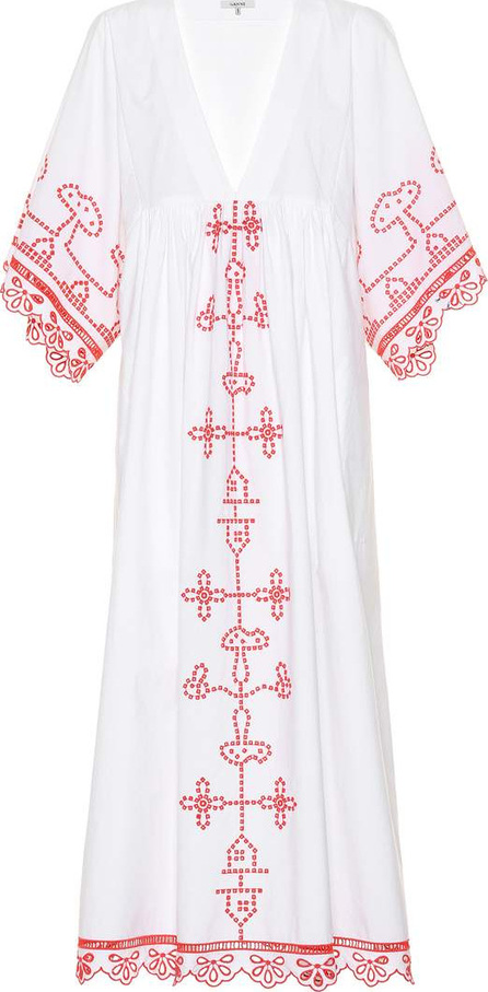 Ganni Peony embroidered cotton dress