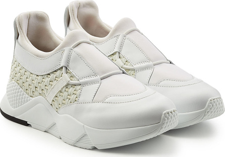 Robert Clergerie Sneakers with Leather and Woven Detail