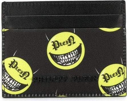 Philipp Plein Signature face print cardholder