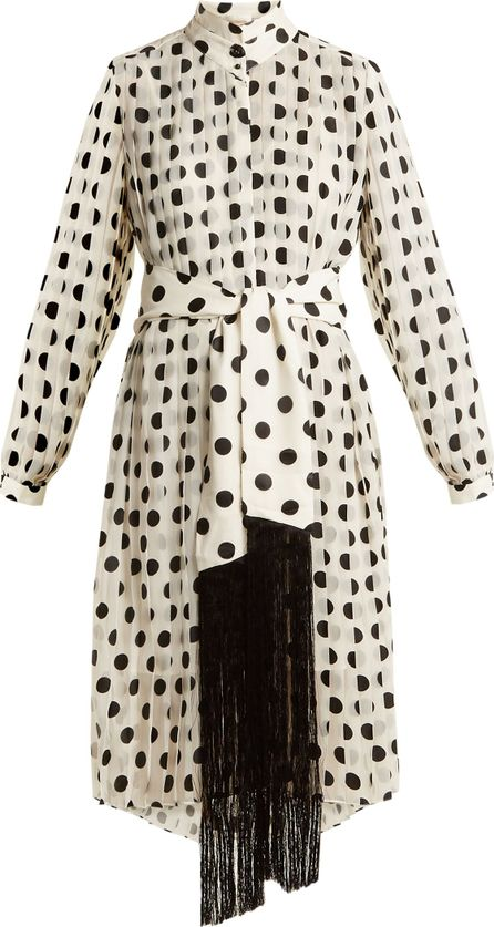 Zimmermann Rife high-neck pleated polka-dot dress