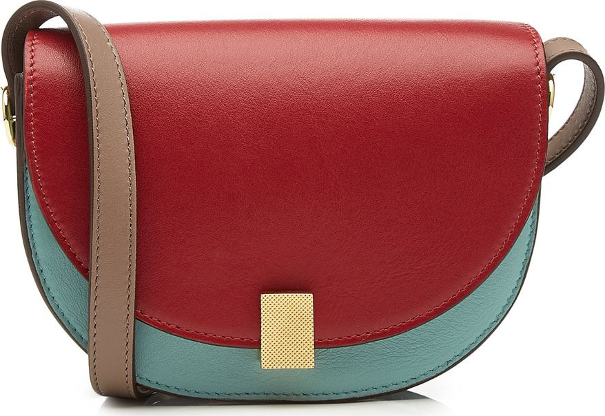 Victoria Beckham - Nano Half Moon Box Leather Shoulder Bag