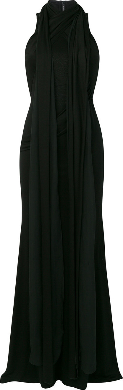 Givenchy Draped halter neck gown