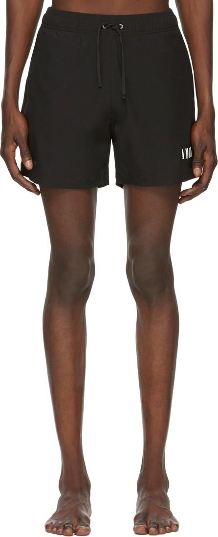 Amiri Black Logo Core Swim Shorts