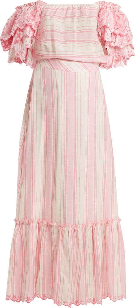 Gül Hürgel Striped off-the-shoulder dress