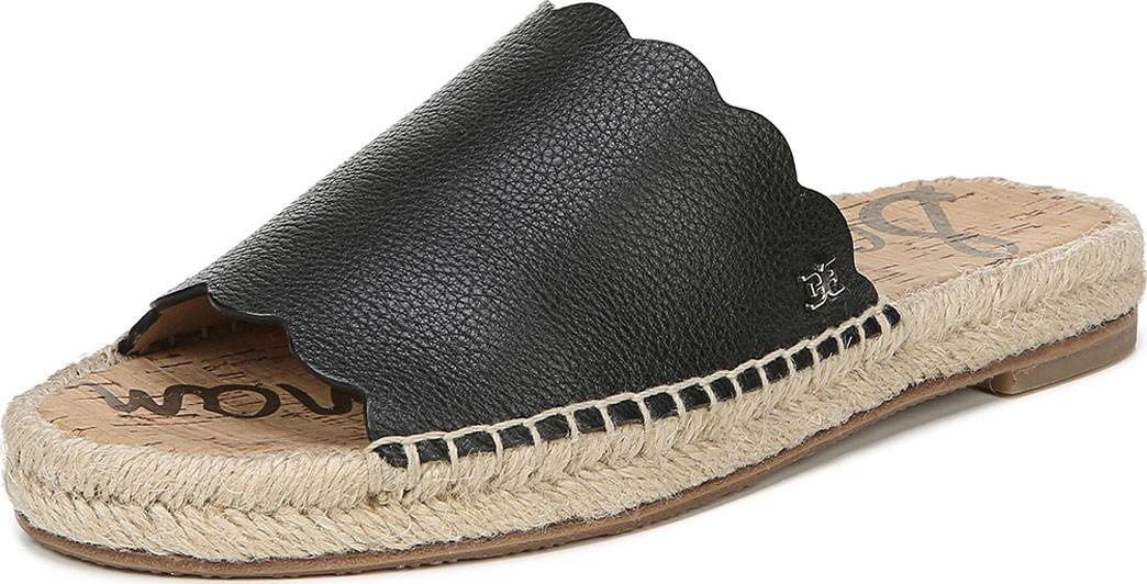 31ef68901a2 Sam Edelman Andy Leather Flat Espadrille Slides - Mkt