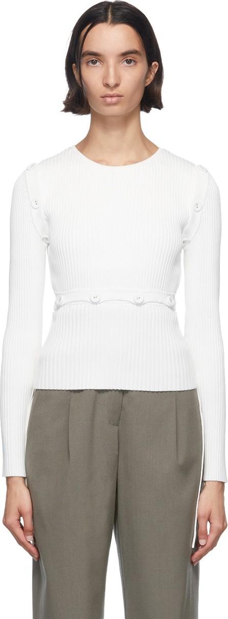Christopher Esber White Deconstructed Long Sleeve T-Shirt
