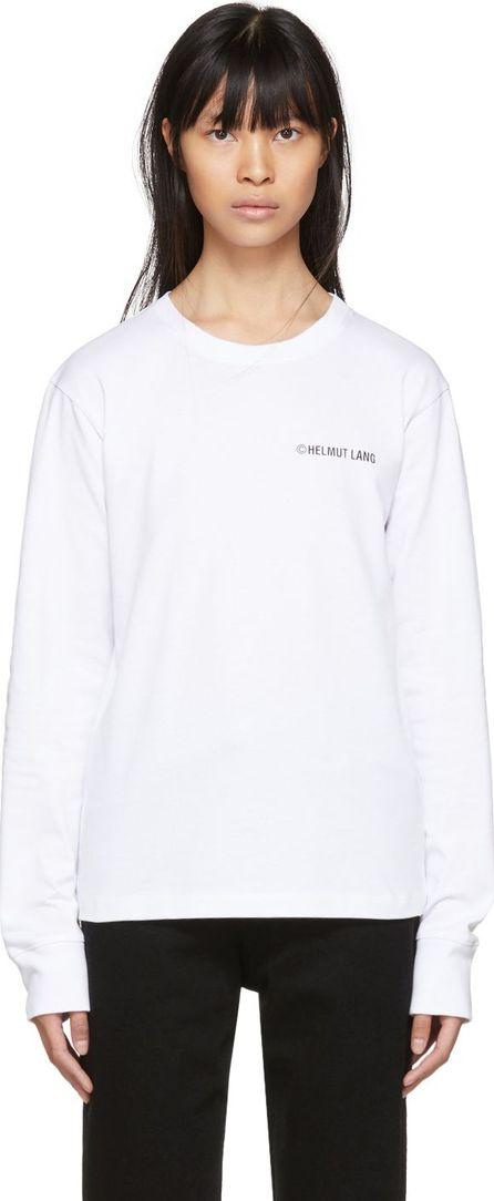 Helmut Lang White Long Sleeve 'Taxi' T-Shirt