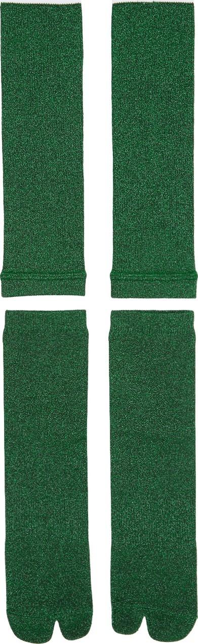 Goodfight Green Two-Piece Tabi Socks