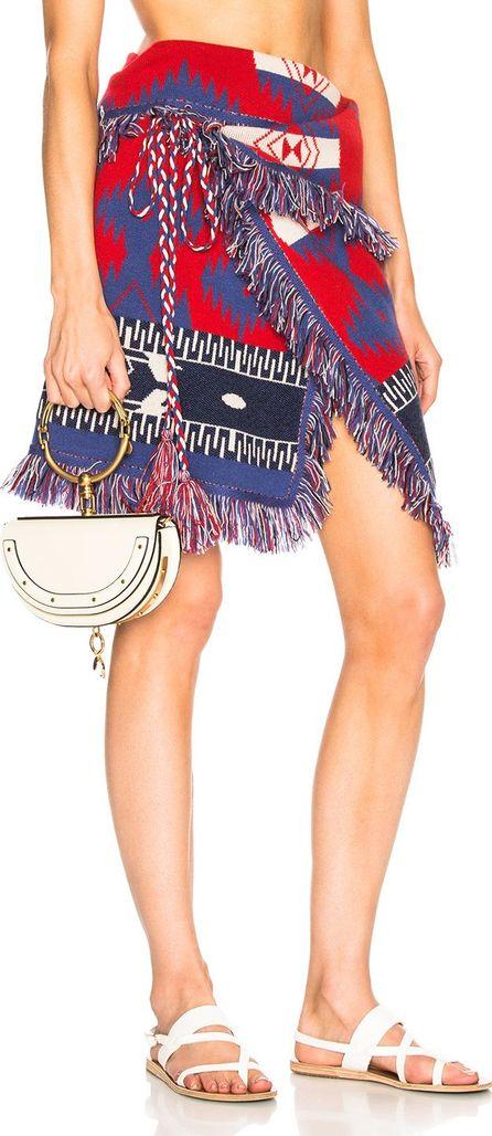 Alanui Icon Asymmetric Jacquard Wrap Skirt