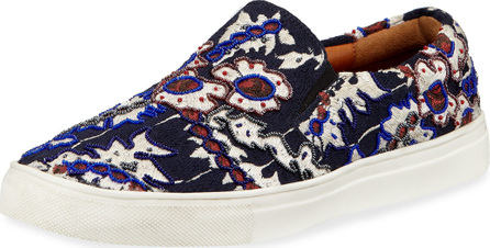 FIGUE Karita Embroidered Slip-On Sneakers