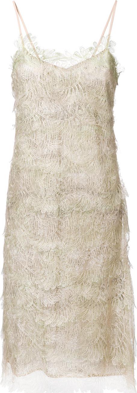 Ermanno Scervino - Embroidered midi dress