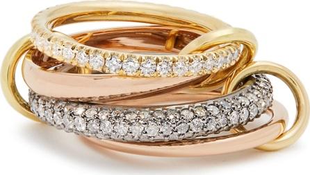 Spinelli Kilcollin Vega diamond, silver, yellow & rose-gold ring