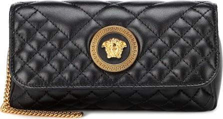 Versace Quilted Medusa leather shoulder bag