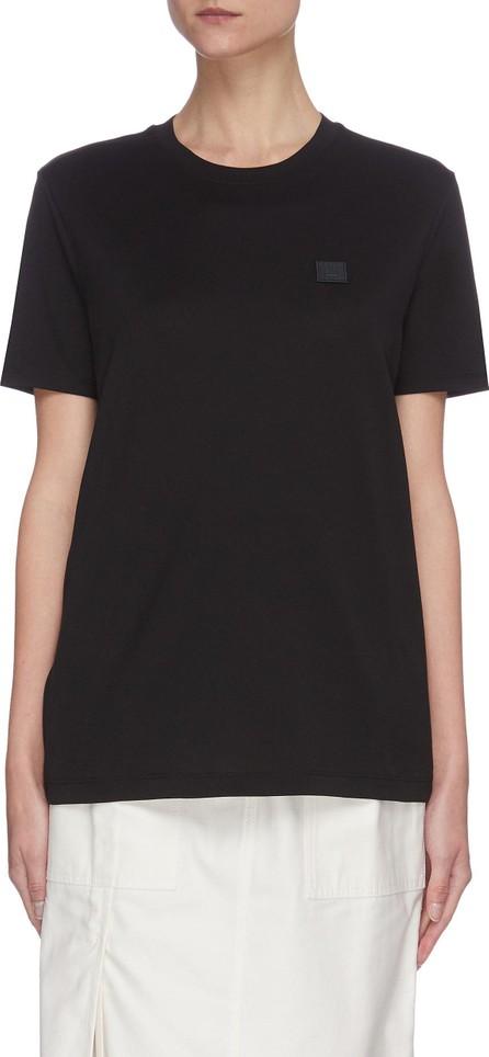 Acne Studios Face patch crewneck cotton T-shirt