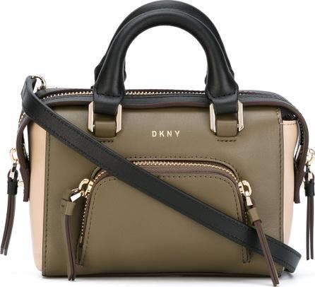 DKNY contrast tote bag