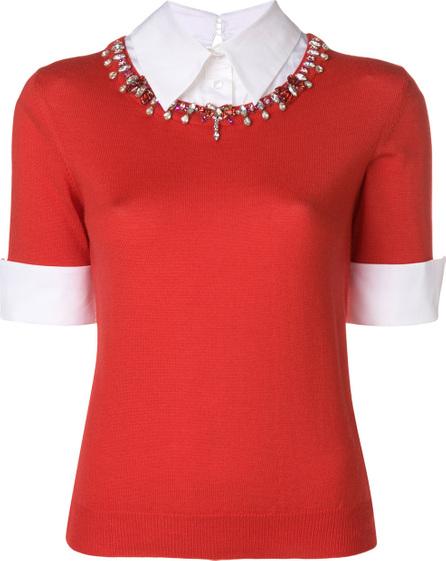 Mary Katrantzou Shirt sweater with gemstone neckline