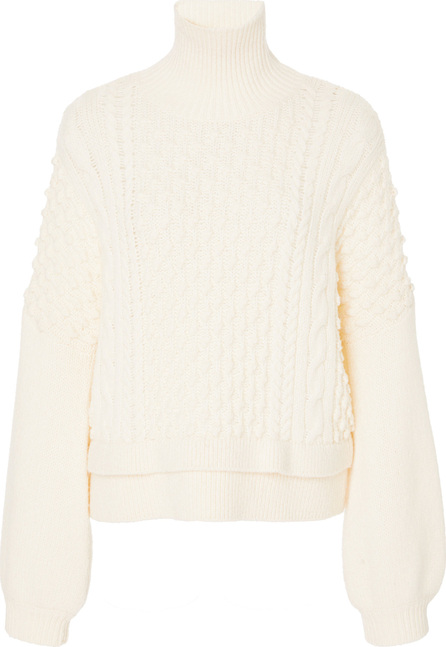 FRAME DENIM Cable Knit Wool-Blend Sweater